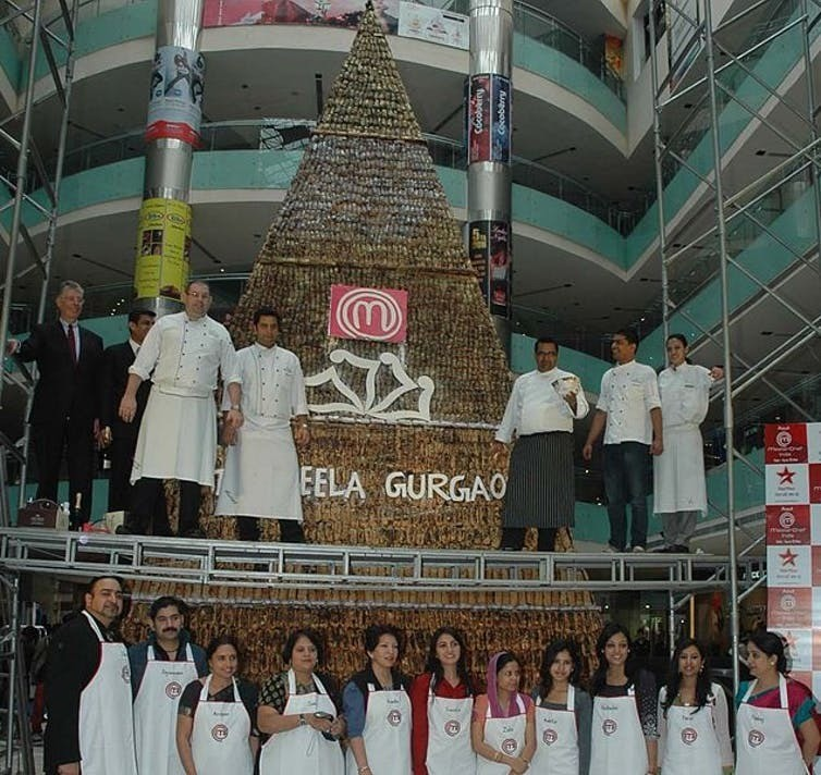 India's Tallest Chocolate Eclair Tower by Chef Kunal Kapur, 24 November 2010.