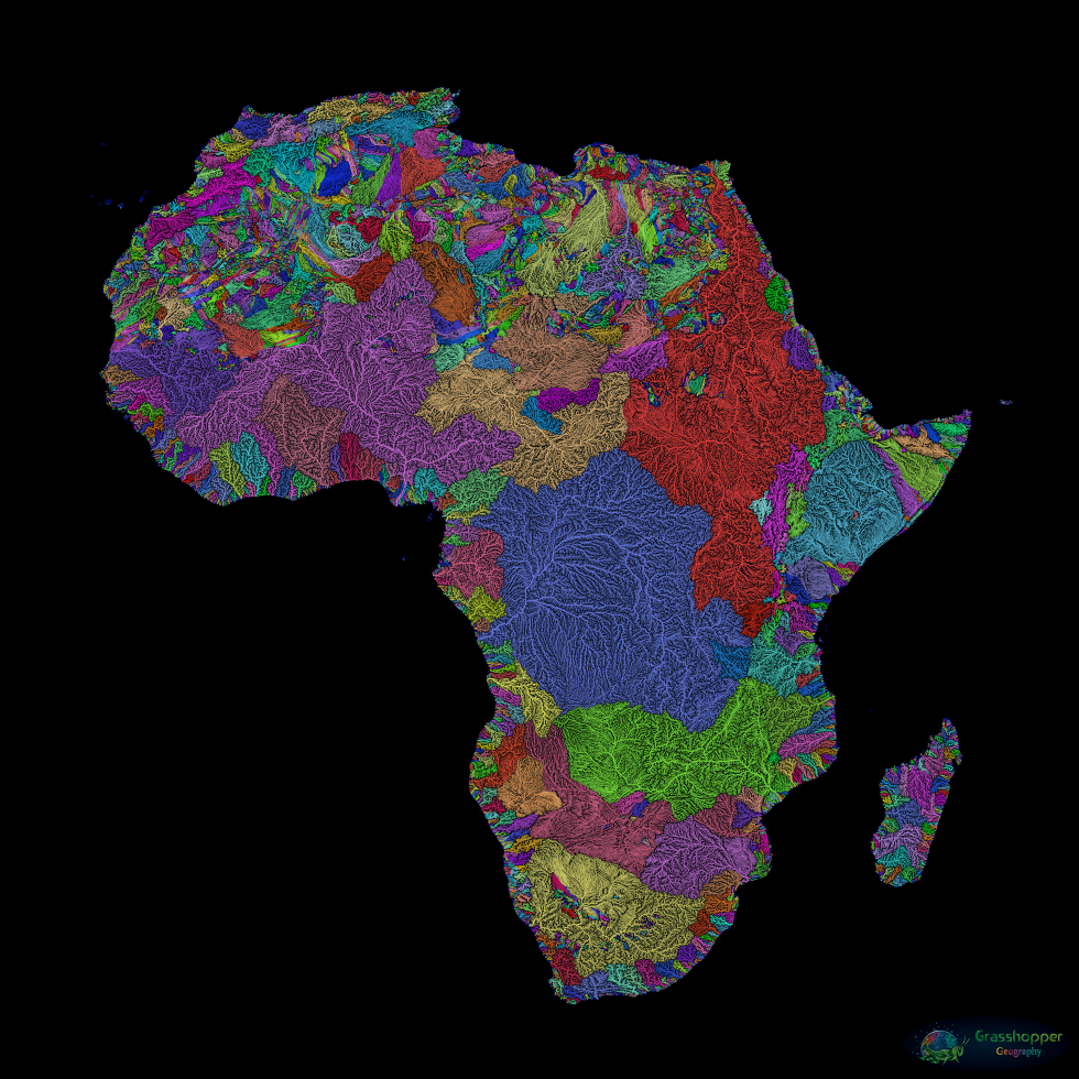 These maps show the world\'s rivers in stunning detail | World ...