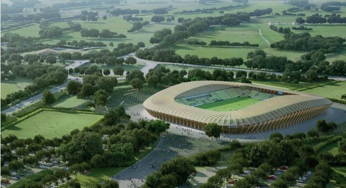 Forest Green Rovers' new stadium will be built from sustainable local timber.