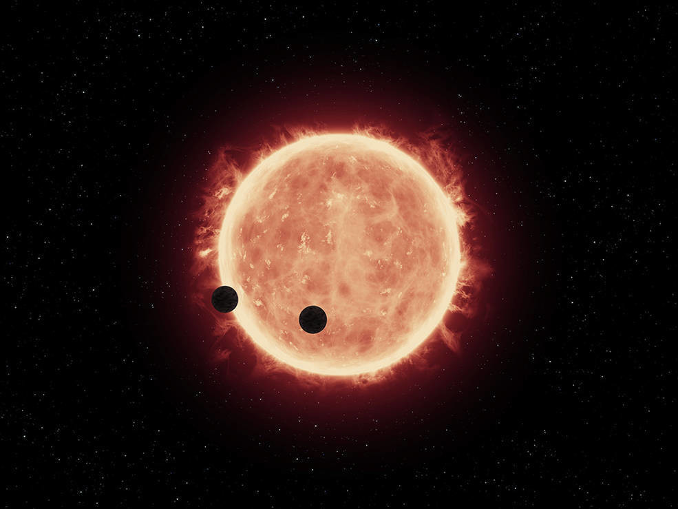 A hubble photograph of TRAPPIST-1