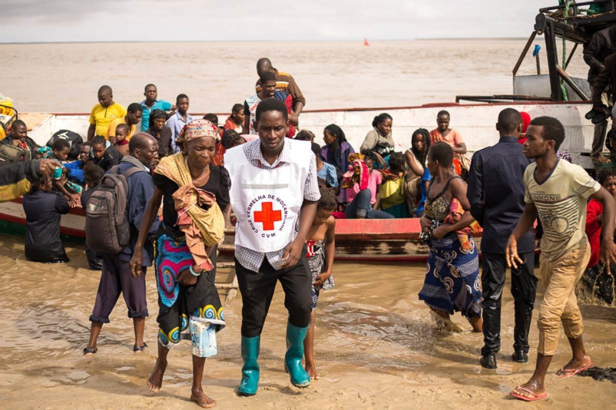 Survivors of Cyclone Idai, arrive to an evacuation centre in Beira, Mozambique, March 21, 2019.