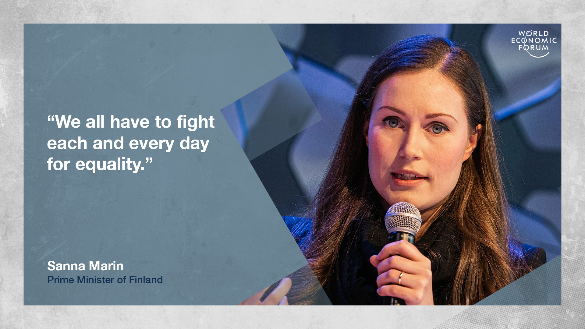 Sanna Marin, Prime Minister of Finland on equality at Davos 2020