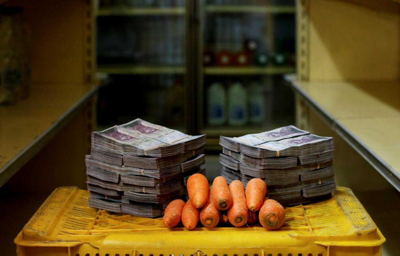 A kilogram of carrots cost 3,000,000 bolivares ($0.46) before Aug. 20.