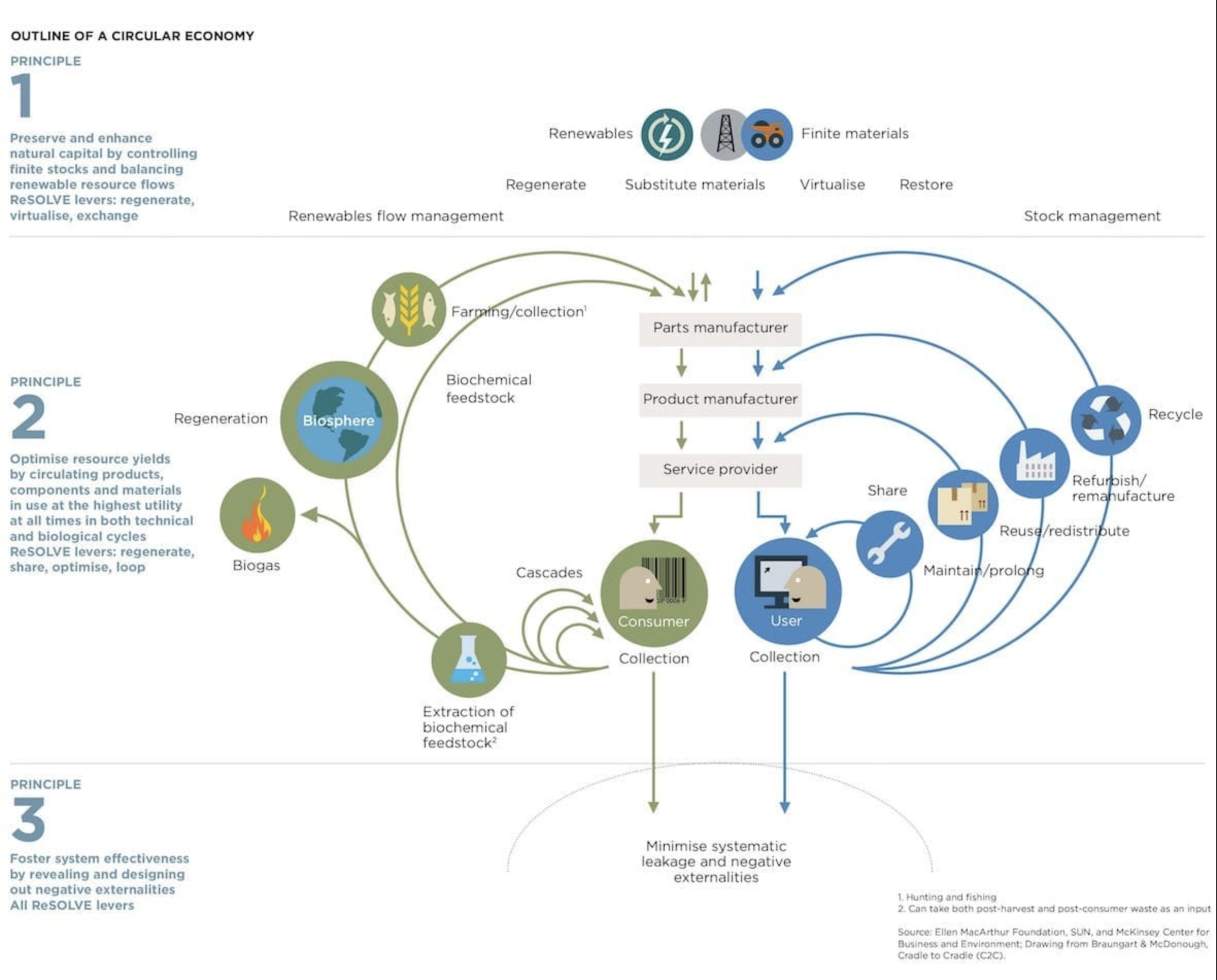 A visualization of the circular economy in action