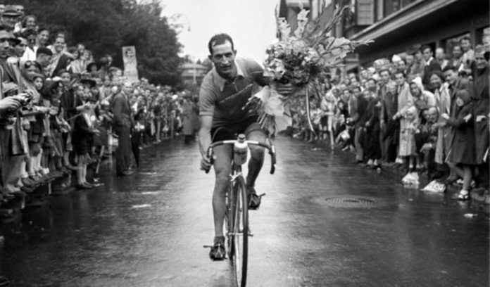 Italian cycling champion Gino Bartali