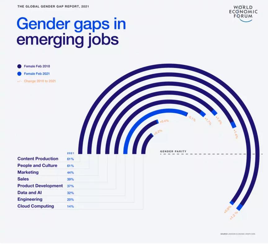 Gender gaps in emerging jobs