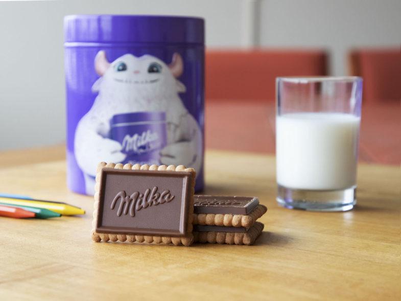 Des produits Milka font partie des références proposées sur la plateforme.