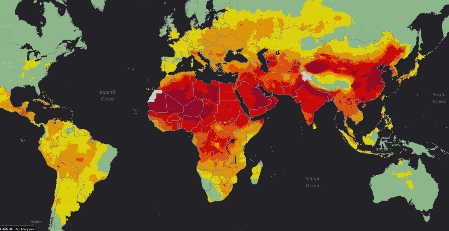 92 Of Us Are Breathing Unsafe Air This Map Shows Just How Bad The - Air-pollution-us-map