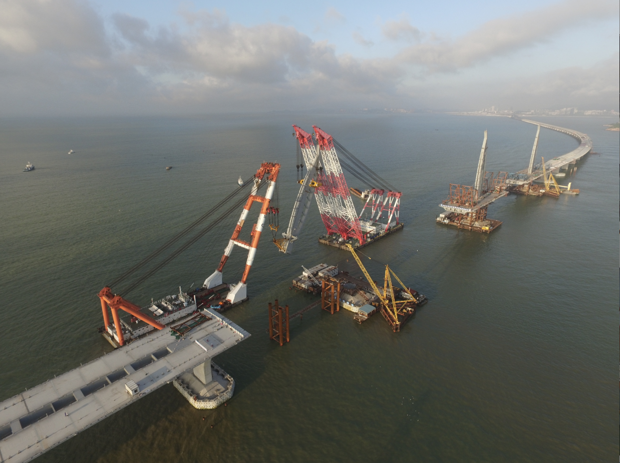 Construction of the Hong Kong-Zhuhai-Macao Bridge