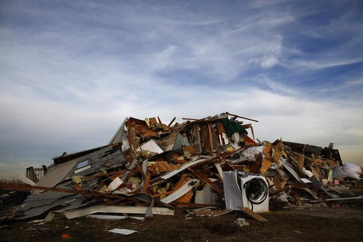 A home destroyed by Hurricane Sandy is seen in Union Beach, New Jersey November 20, 2012.