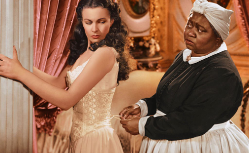 Scarlett O'Hara (Vivien Leigh) and Mammy (Hattie McDaniel) in Gone with the Wind. Silver Screen Collection
