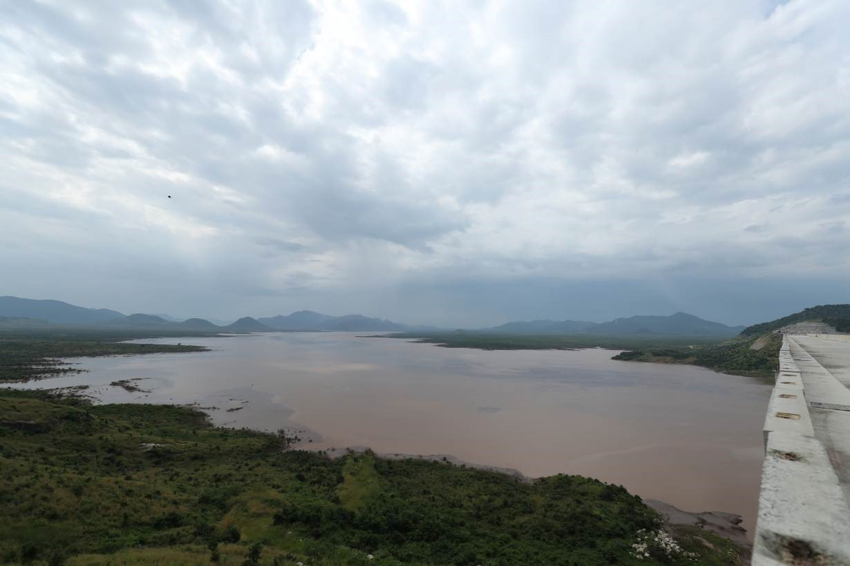 A water basin is seen near Ethiopia's Grand Renaissance Dam as it undergoes construction work on the river Nile in Guba Woreda, Benishangul Gumuz Region, Ethiopia September 26, 2019.