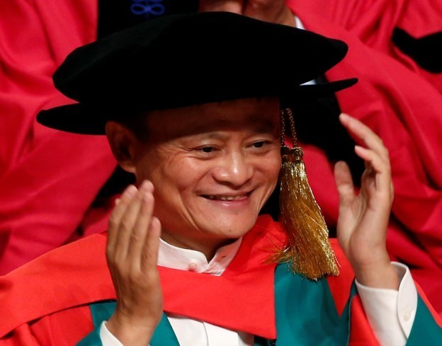 Jack Ma receives an honorary degree from the University of Hong Kong