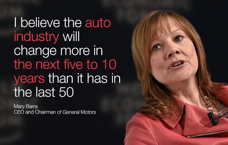 I believe the auto industry will change more in the next five to 10 years than it has in the last 50