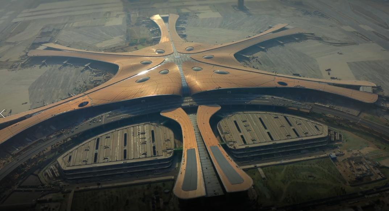 The 'starfish' - world's biggest airport.