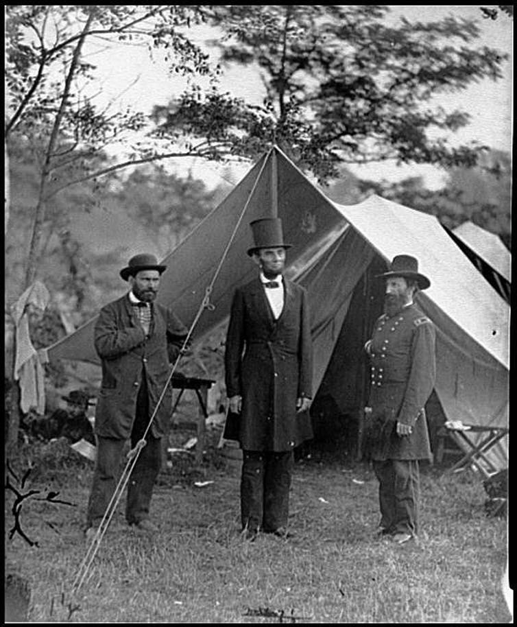 Historians have preserved photographs that they deem important – like this shot of Abraham Lincoln in the main eastern theater of the Civil War, Battle of Antietam.