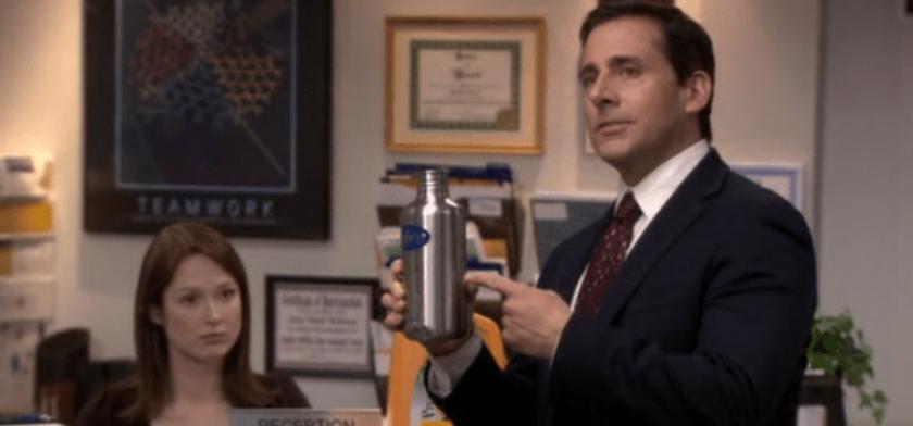 Michael Scott recommande la gourde (The Office)