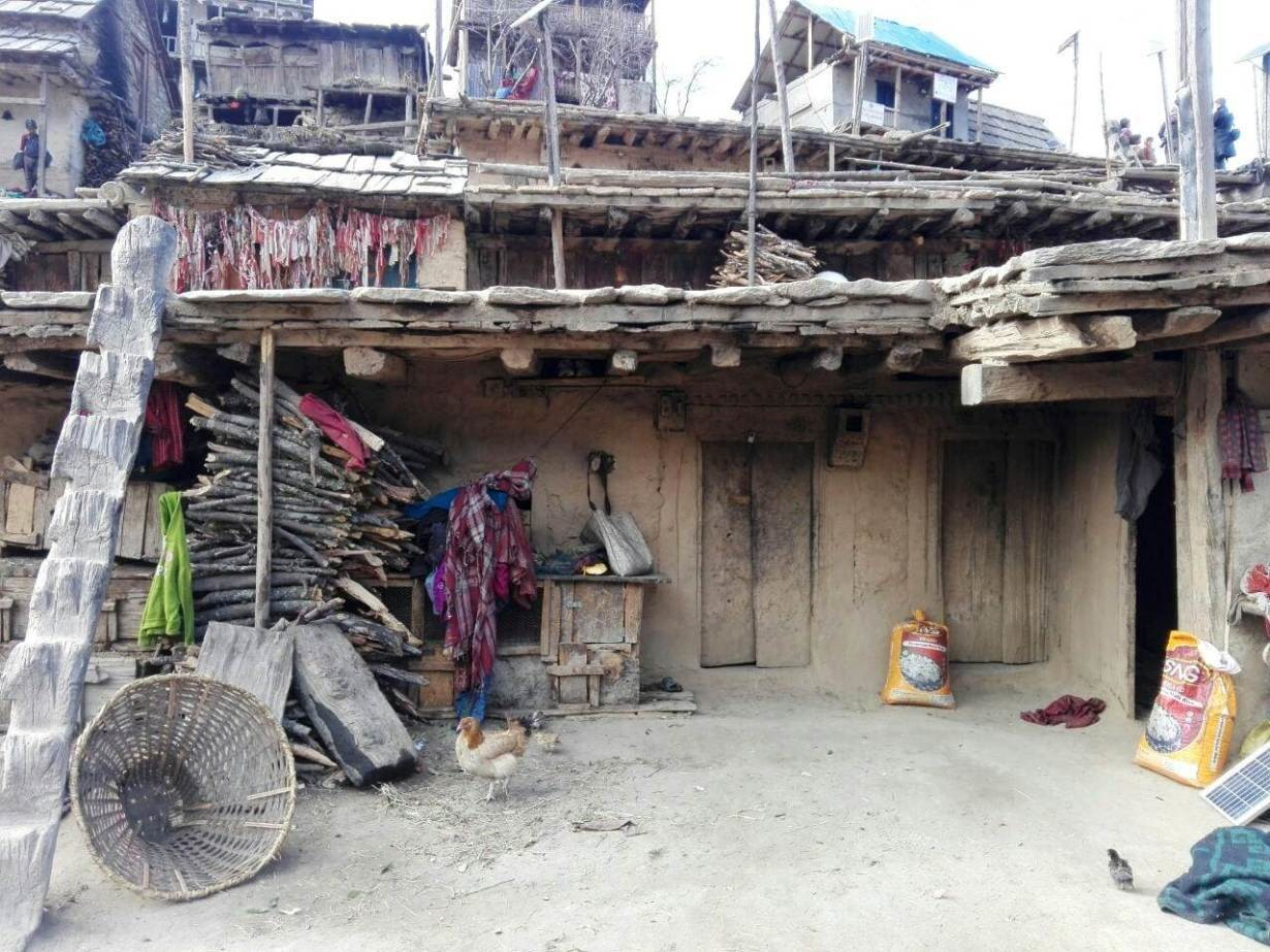 A view of homes in the village of Ratada, Nepal, February 5, 2019.