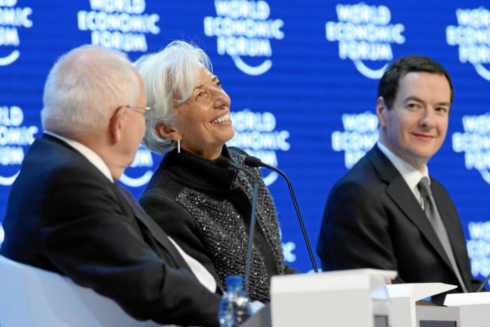 DAVOS/SWITZERLAND, 23JAN16 - Christine Lagarde, Managing Director, International Monetary Fund (IMF), Washington DC smiles during the Annual Meeting 2016 of the World Economic Forum in Davos, Switzerland, January 23, 2016.  WORLD ECONOMIC FORUM/swiss-image.ch/Photo Moritz Hager