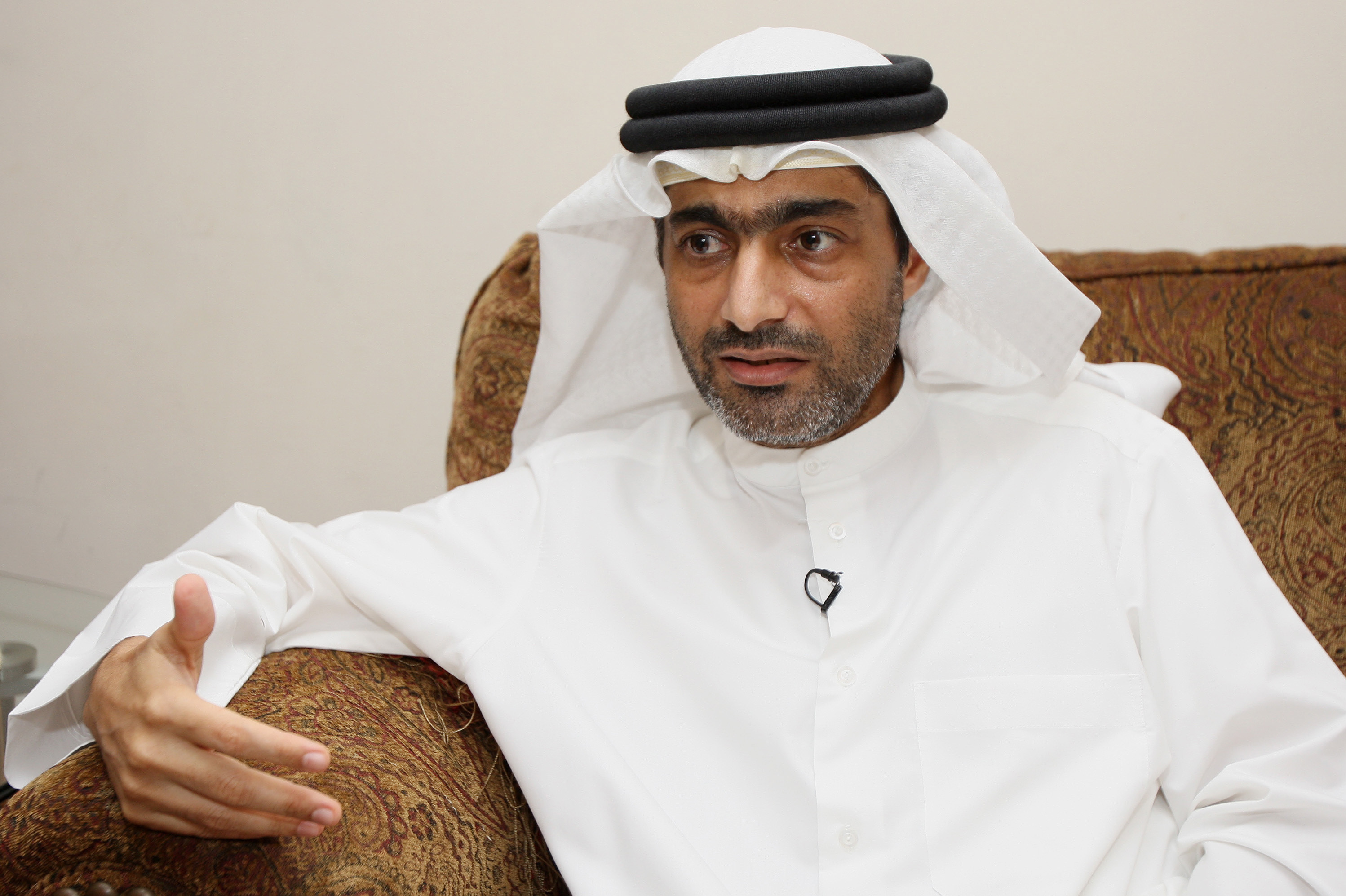Rights defender Ahmed Mansoor in Dubai in 2011, a day after he was pardoned following a conviction for insulting UAE leaders. He is now in prison once more.