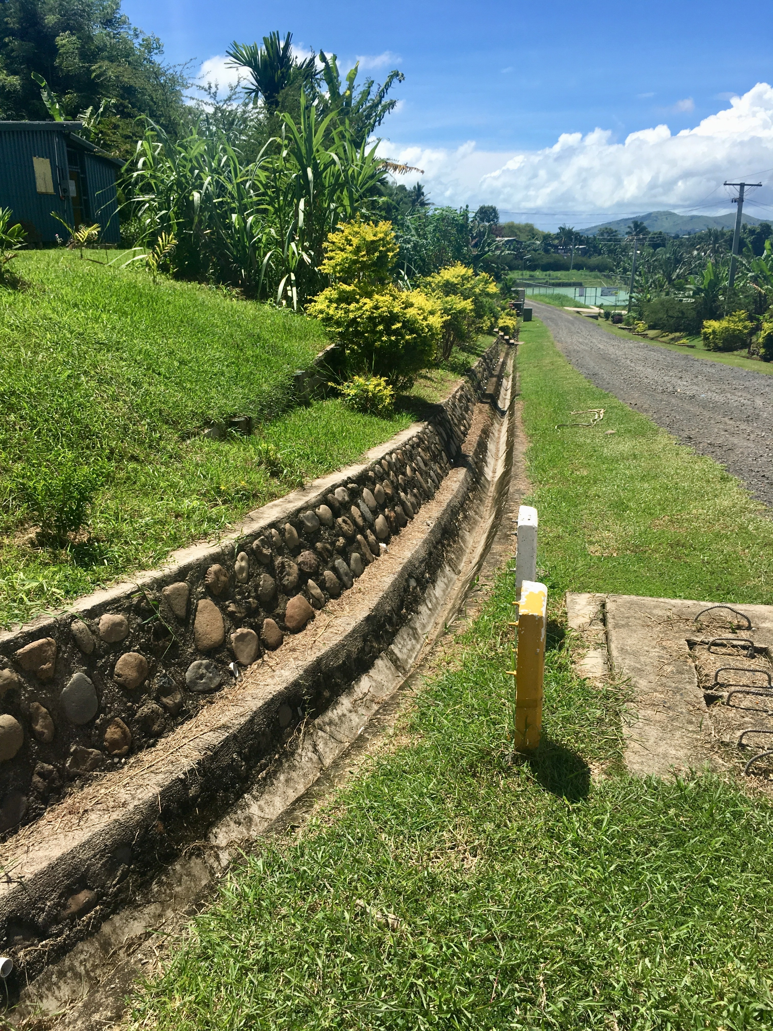 The drainage system in Koroipita Village, Fiji can channel excess water during heavy rains and floods.