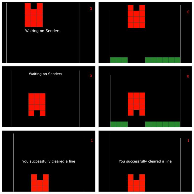 A la izquierda, la pantalla que ve el receptor. A la derecha, la pantalla que ven las dos personas que envían la información.