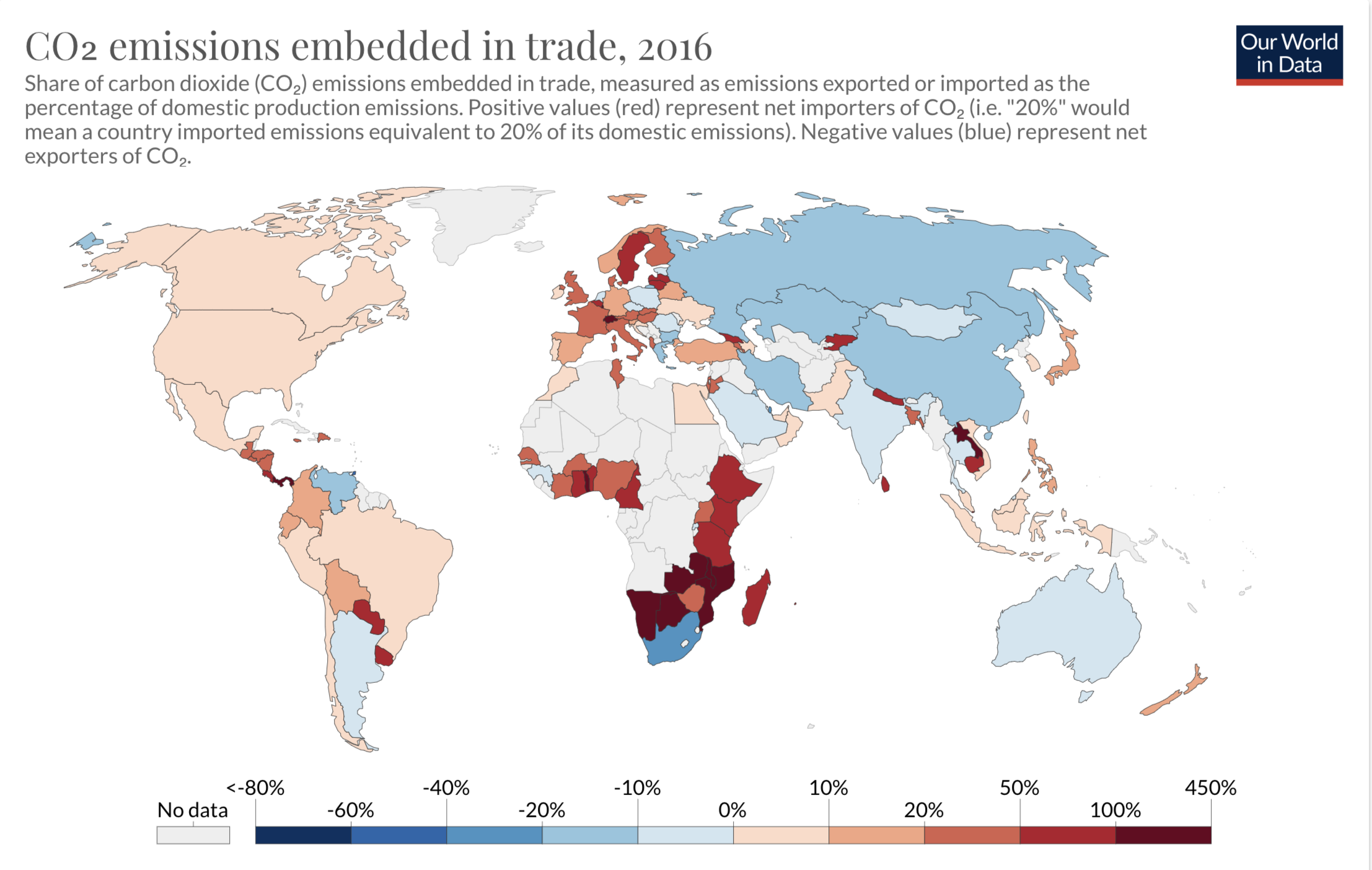 CO2 emissions embedded in trade