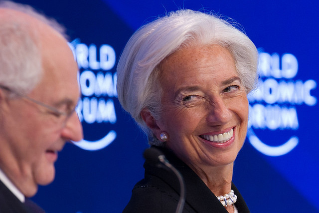 Christine Lagarde, Managing Director, International Monetary Fund (IMF), Washington DC speaking during the session: Global Economic Outlook at the Annual Meeting 2017 of the World Economic Forum in Davos, January 20, 2017