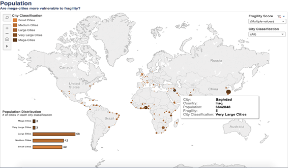 How Fragile Are Our Cities World Economic Forum - Map of us fastest growing cities