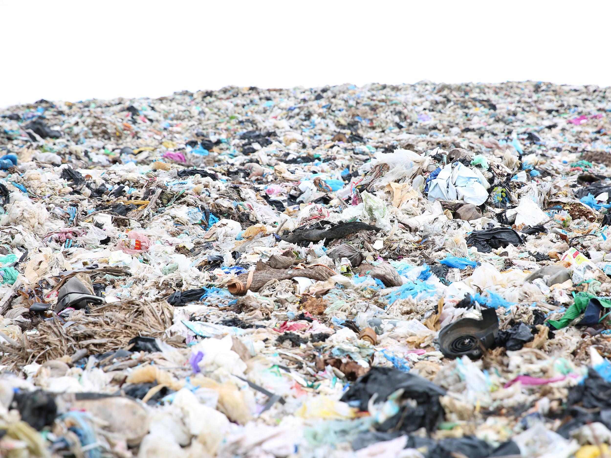 A landfill site in Siem Reap, Cambodia