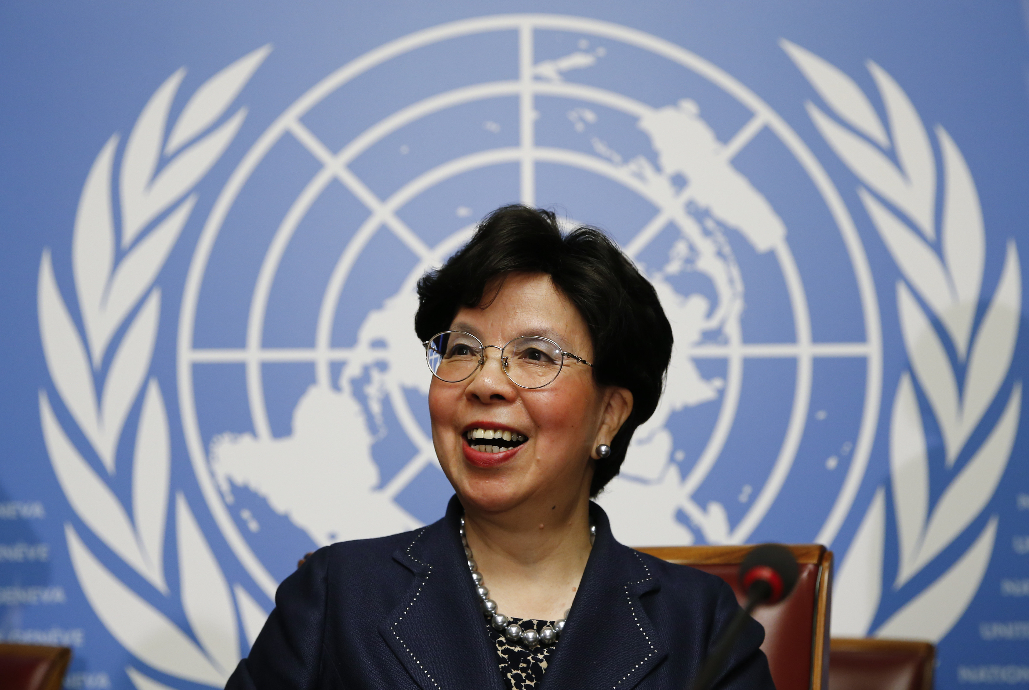 Margaret Chan, Director-General of the World Health Organization (WHO), smiles after a news conference ahead of the 69th World Health Assembly in Geneva, Switzerland May 17, 2016. REUTERS/Denis Balibouse - RTSEN8F