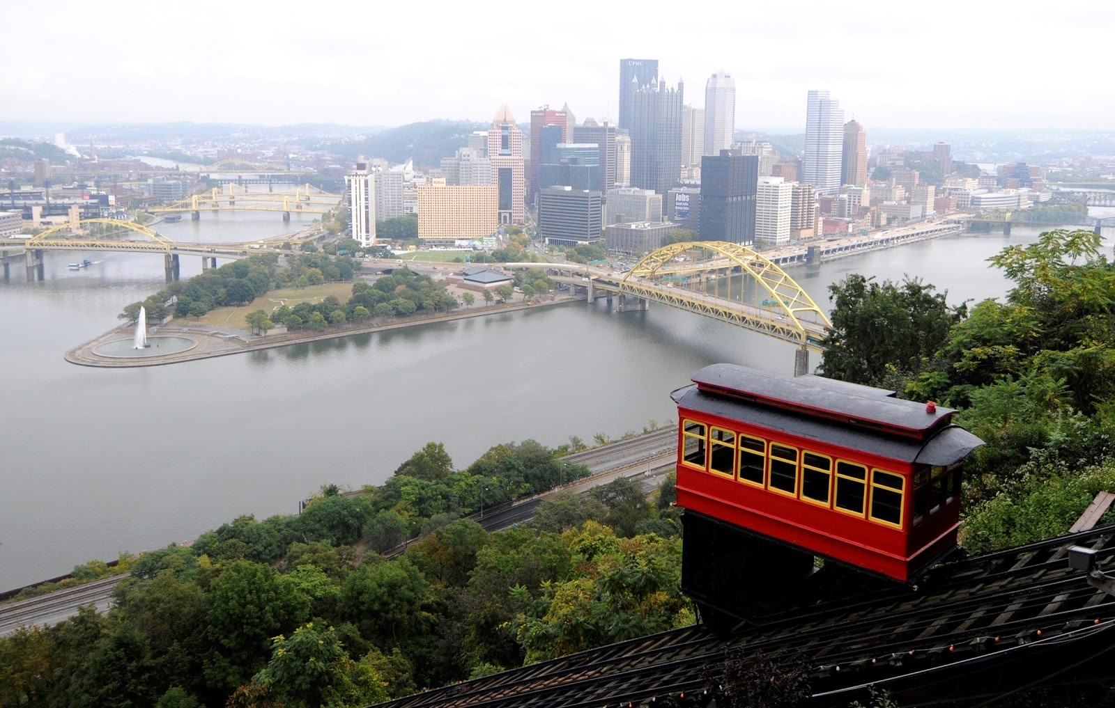 A view of downtown Pittsburgh from Mount Washington.