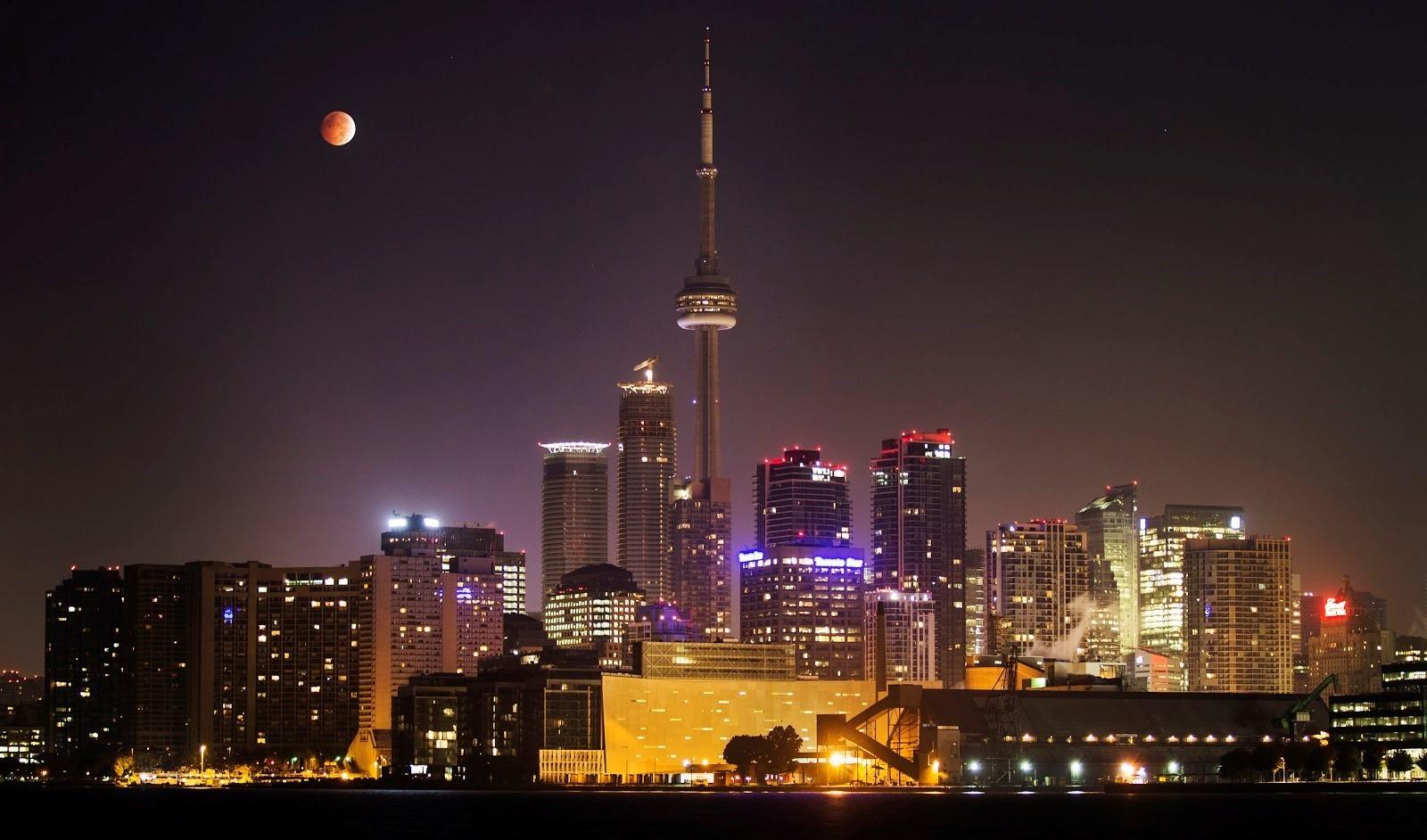 Toronto skyline.