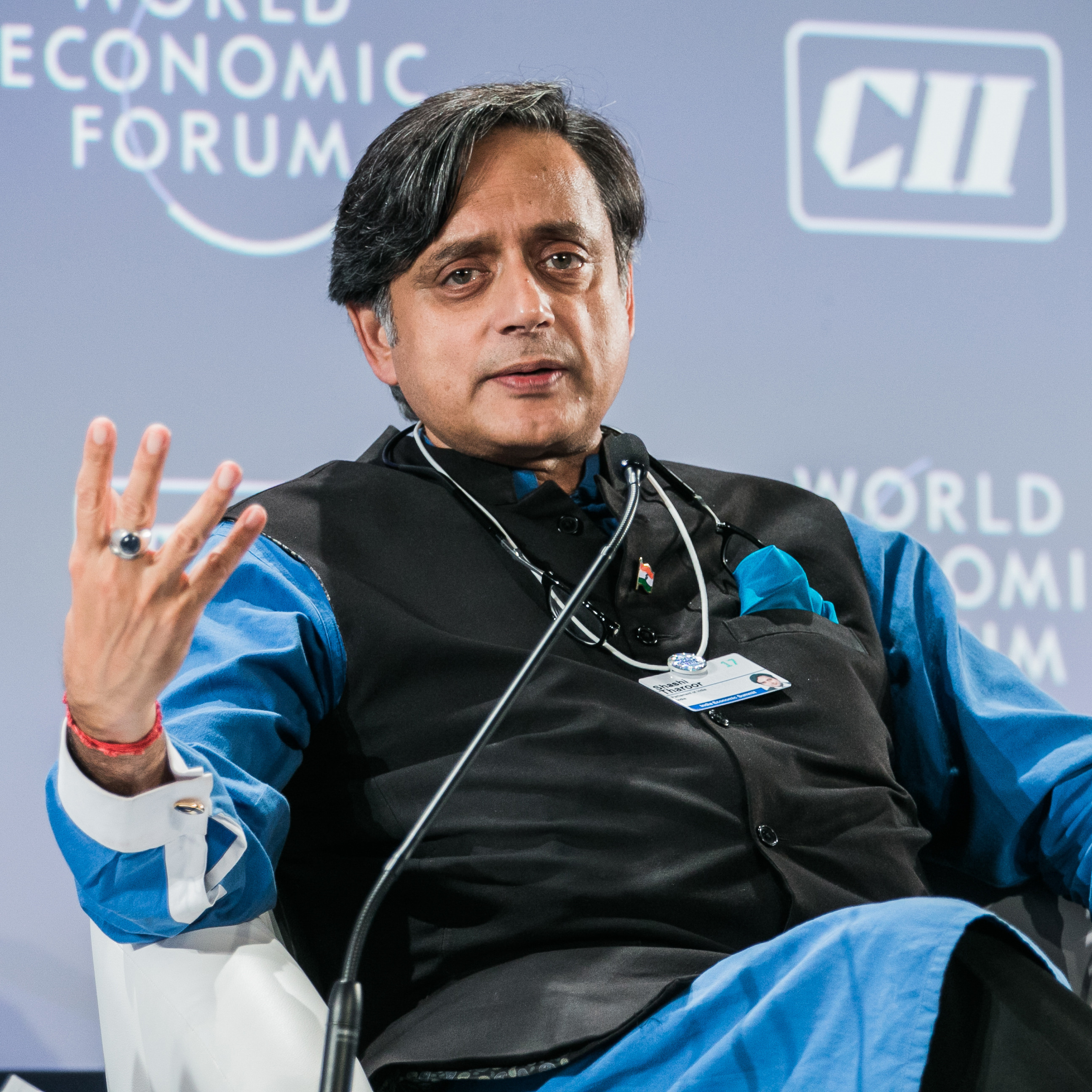 Shashi Tharoor, Member of Parliament, India captured during the Session: