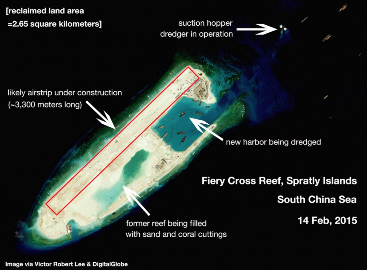 Image of Fiery Cross Reef, Spratly Islands