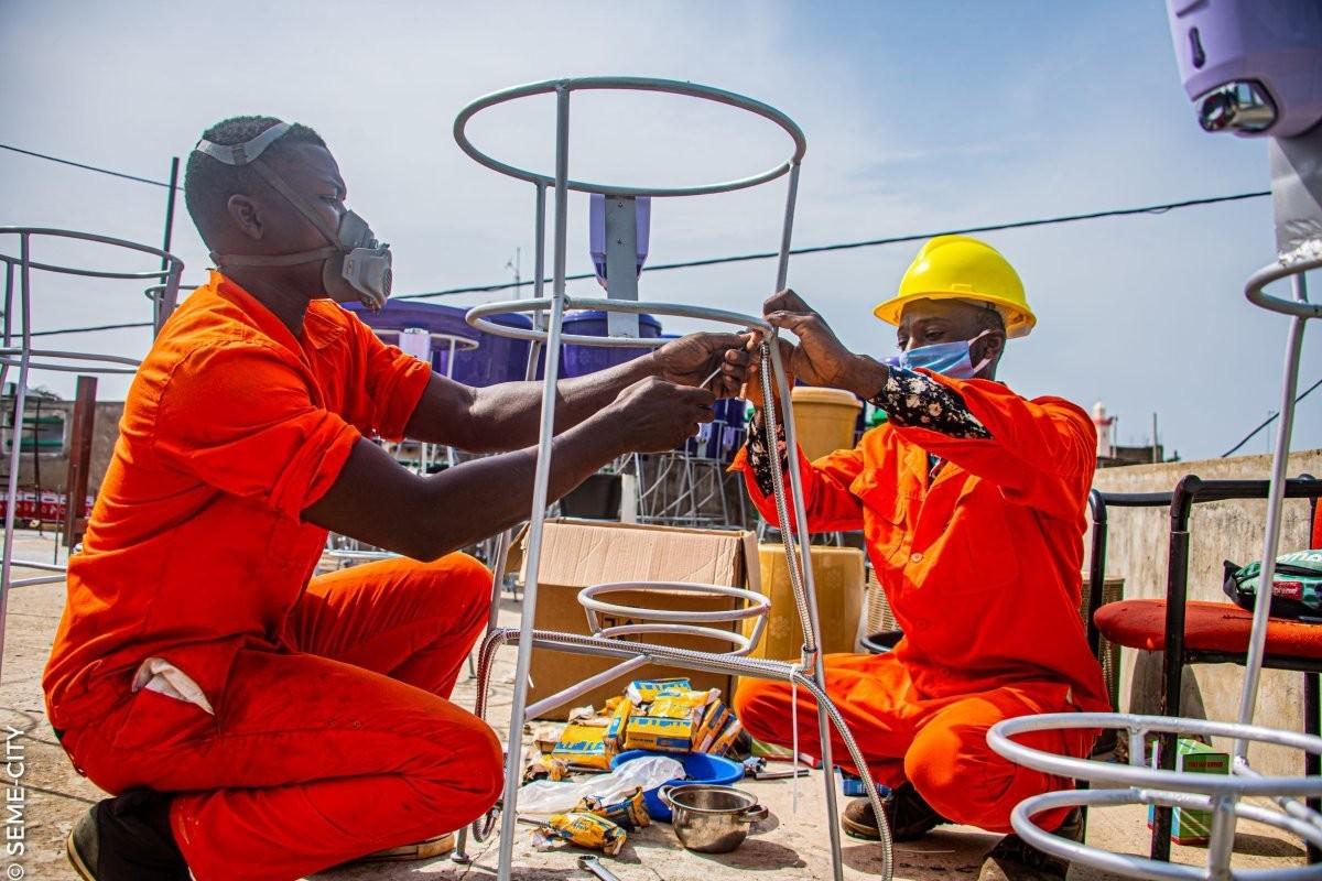 coronavirus covid19 health sanitation drone technology 4IR africa lockdown disinfectant spraying
