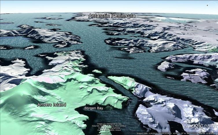 The Antarctic fjords.
