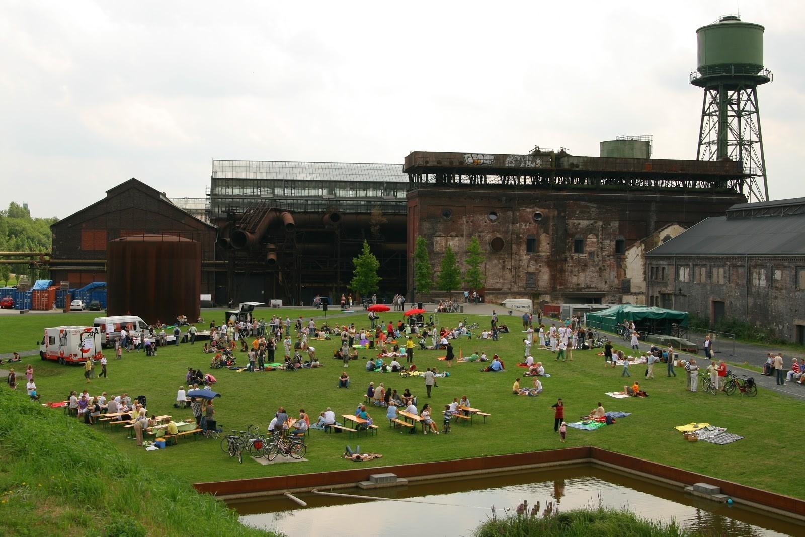 Today, visitors to Westpark Bochum, part of the Emscher Landscape Park, can picnic beside former steelworks.