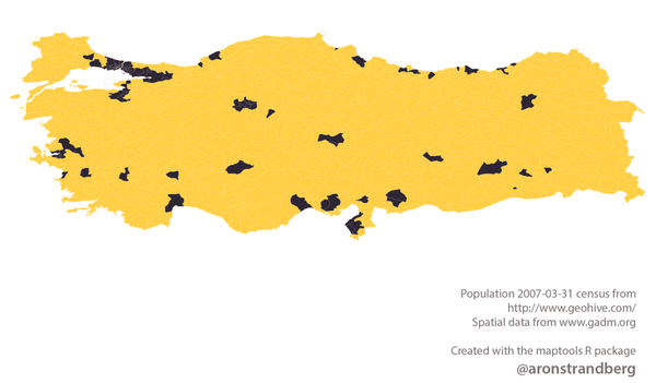 Turkey's population mapped