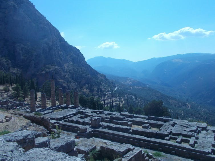 The sanctuary of Apollo at Delphi.