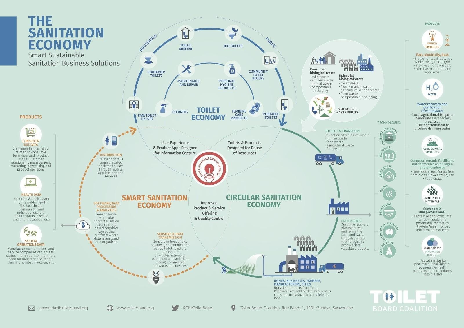 An infographic representing the sanitation economy.