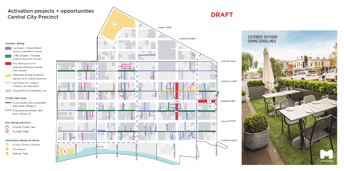 Melbourne aims to revitalize its downtown area.