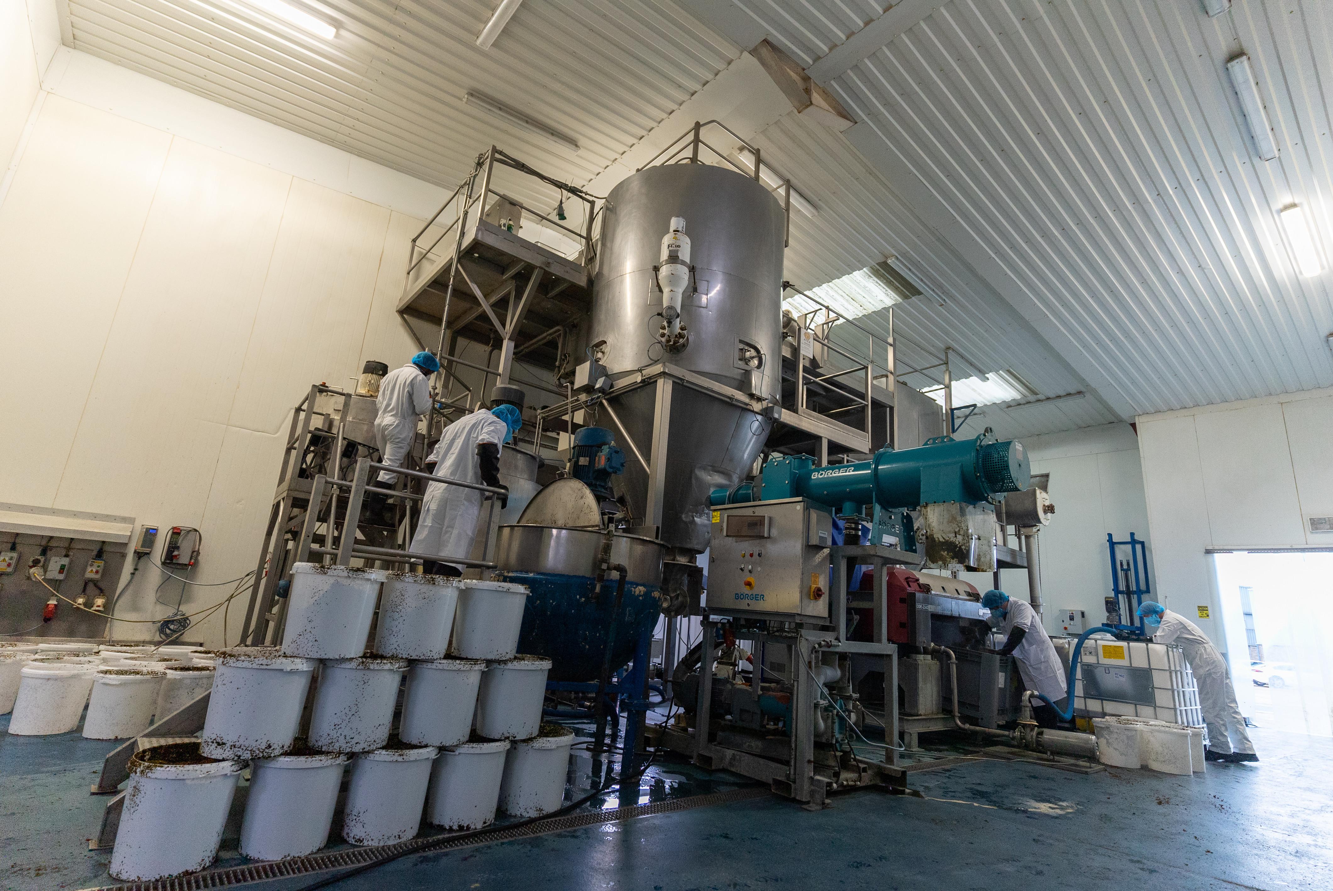A pilot trial of Oceanium's proprietary biorefinery process