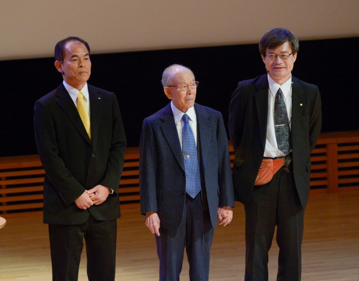 Nobel physics laureates 2014 Professor Shuji Nakamura, Professor Isamu Akasaki and Professor Hiroshi Amano