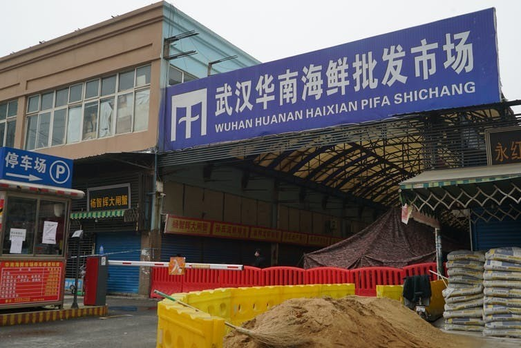 The Wuhan Huanan Wholesale Seafood Market, where the coronavirus outbreak is believed to have started, is now closed.
