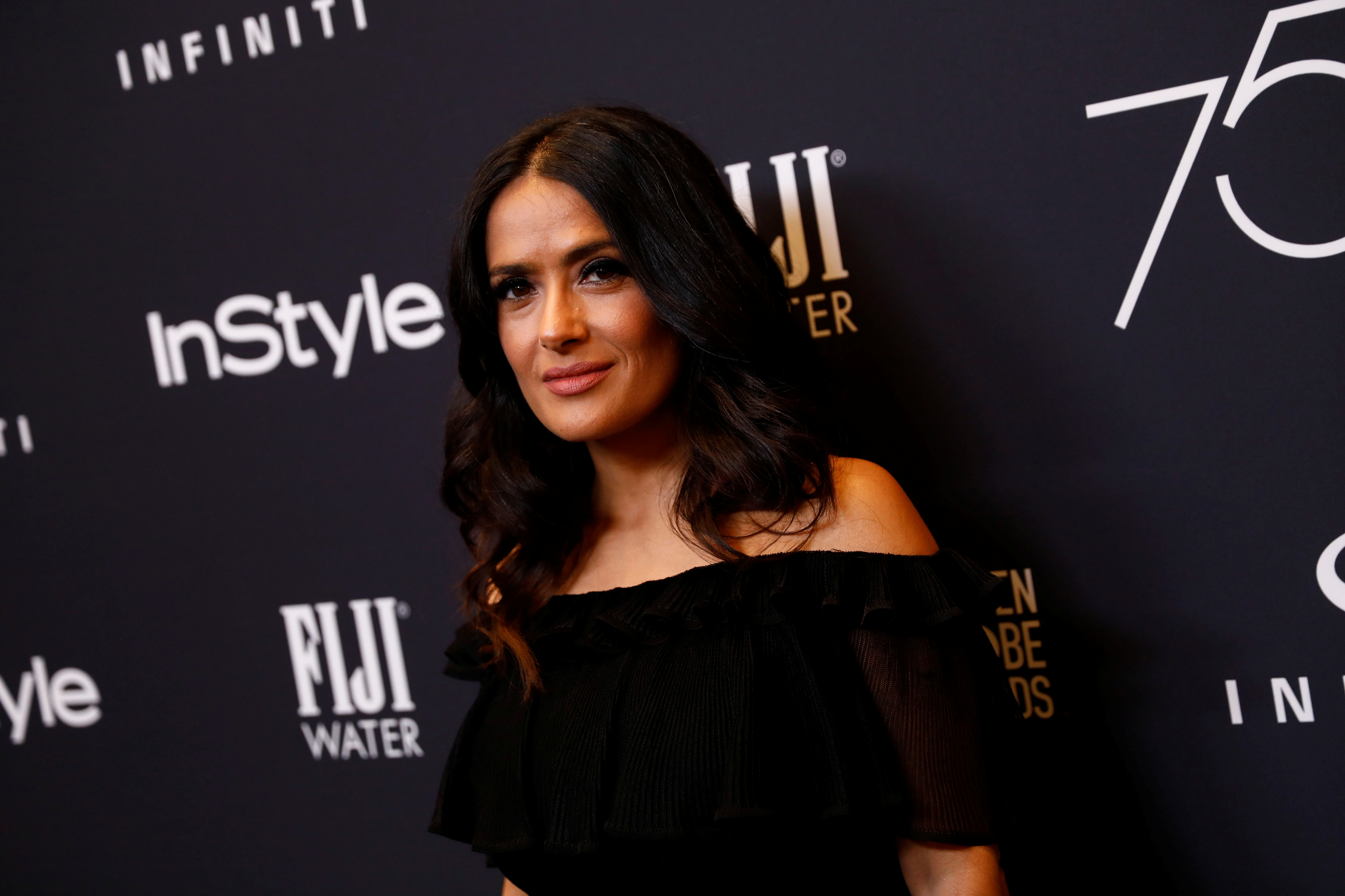 Salma Hayek, who wrote about her experiences with Harvey Weinstein.