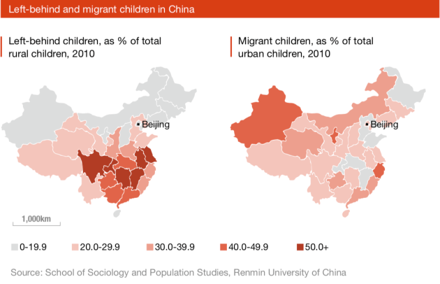 China's left-behind children.