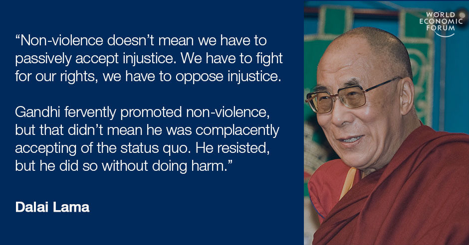 60 Inspiring Quotes For International Day Of NonViolence World Inspiration Violence Quotes