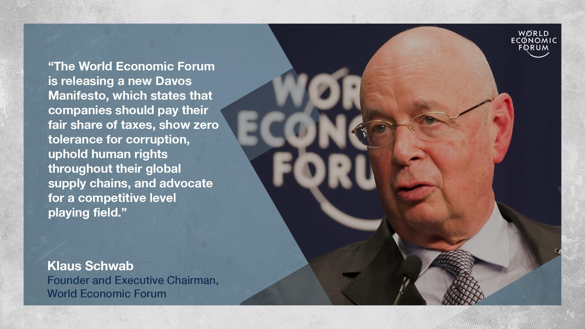Klaus Schwab Davos Manifesto 2019