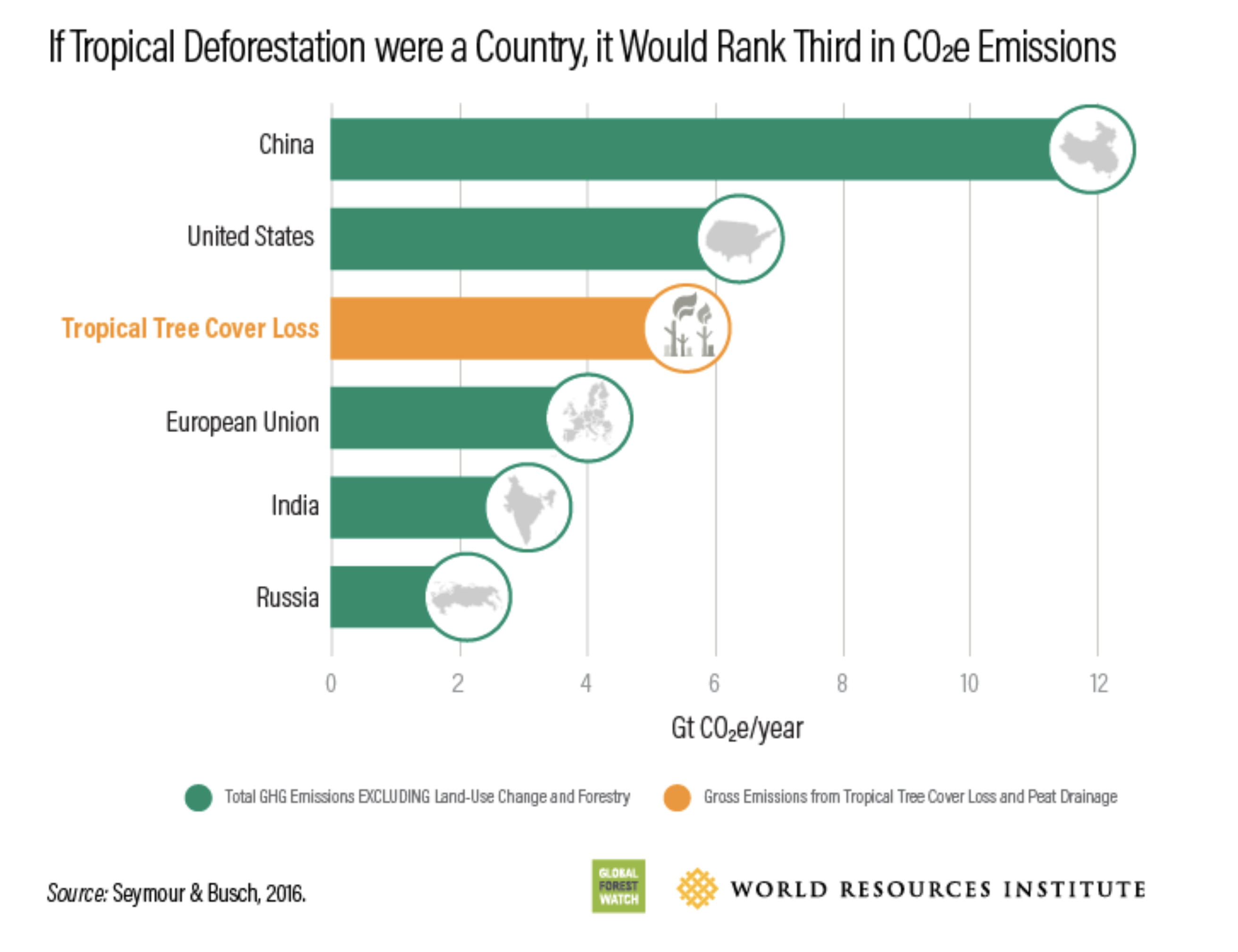 Tropical deforestation is a bigger contributor to climate change than the EU or India